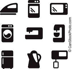 Vector icons equipment