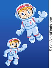 Little spaceman vector illustration