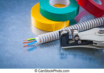 Automatic wire strippers conduct tubing cables and...