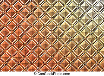 Beautiful metal pattern on the wall of a building...
