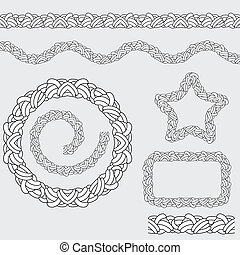 Repeating Rope Pattern Icon - An image of a repeating rope...