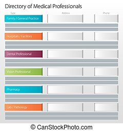 Healthcare Directory Medical Professionals Icon - An image...