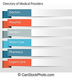Healthcare Directory Medical Providers Icon - An image of a...