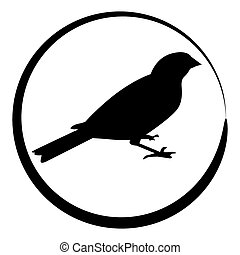 Sparrow Bird Icon - An image of a sparrow bird icon