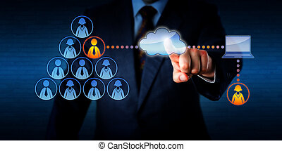 Manager Plugging-In A Remote Freelancer Via Cloud - Manager...