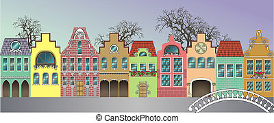 Houses - Fantasie of medieval houses (day)