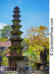 Ten-Tiered Decorative Fountain at Tirta Gangga in Indonesia...