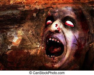 véres, deformed, fej,