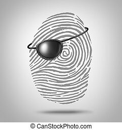 Privacy Piracy - Privacy piracy concept and identity theft...