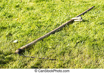 Scythe is old agricultural tools