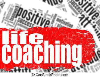 Word cloud life coaching