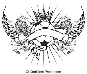 gryphon soccer coat of arms crest1 - gryphon soccer coat of...