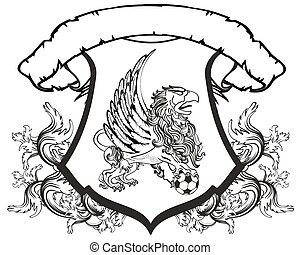 gryphon soccer coat of arms crest2 - gryphon soccer coat of...