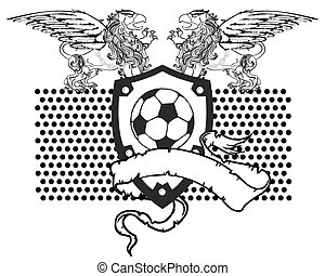 gryphon soccer coat of arms crest6 - gryphon soccer coat of...