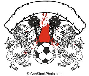 gryphon soccer coat of arms crest10 - gryphon soccer coat of...