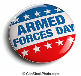 Armed Forces Day celebration badge stock image.