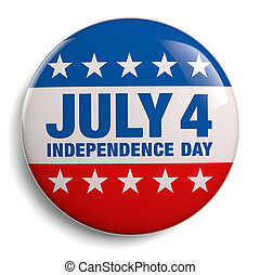 Fourth of July Independence Day stock image graphic.
