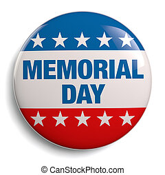 Memorial Day USA badge isolated on white.