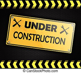 Under construction sign background
