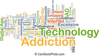 Technology addiction background concept