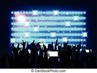 Blue of background crowd of party