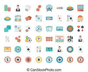 Casino icon set Flat vector related icon set for web and...