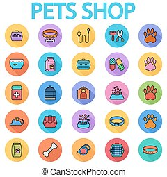 Pets shop icons