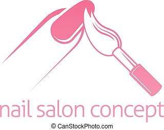 Nail Salon Concept - Nail salon technician, nail bar or...