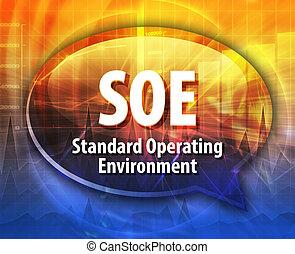 SOE acronym definition speech bubble illustration - Speech...