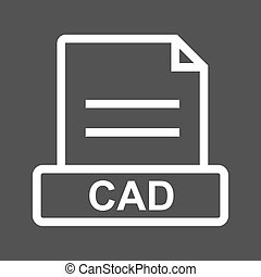 CAD File - CAD, file, file extension icon vector image Can...
