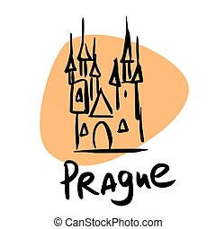 Prague the capital of Czech Republic A stylized image of the...