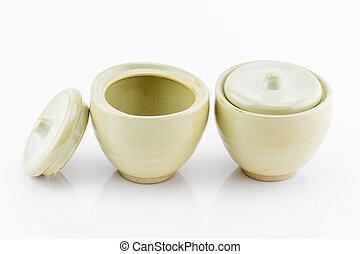 pequeño, cerámico, bowls, ,