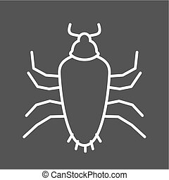 Cockroach, brown, pest icon vector image Can also be used...