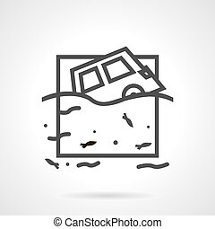 Car insurance occasions line vector icon