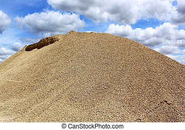gravel dune - a gravel dune in a sand pit