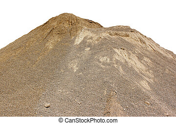 sand - a white sand dune in a sand pit