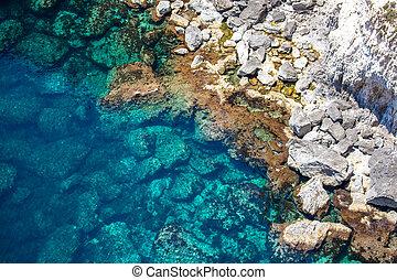 Blue sea at Malta