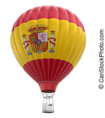 Hot Air Balloon with Spanish Flag - Hot Air Balloon with...