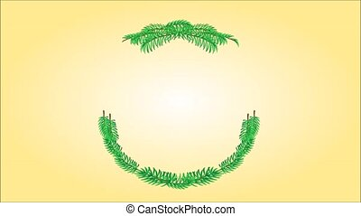 Merry Christmas wreath - Animation of illustration Merry...