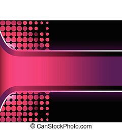 Beautiful 3D pink stripe with halftone background
