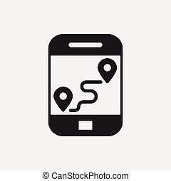 cellphone map icon
