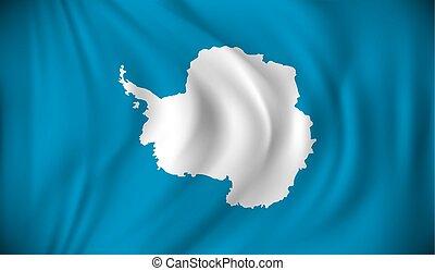 Flag of Antarctica - vector illustration