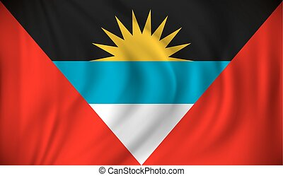 Flag of Antigua and Barbuda - vector illustration