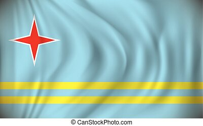 Flag of Aruba - vector illustration