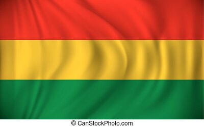 Flag of Bolivia - vector illustration