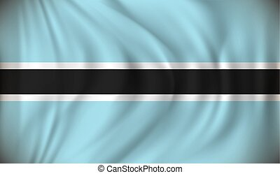 Flag of Botswana - vector illustration