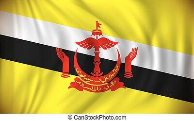 Flag of Brunei - vector illustration