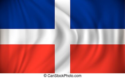 Flag of Dominican Republic - vector illustration