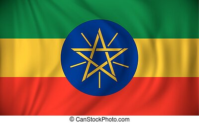 Flag of Ethiopia - vector illustration