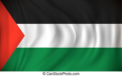 Flag of Gaza Strip - vector illustration